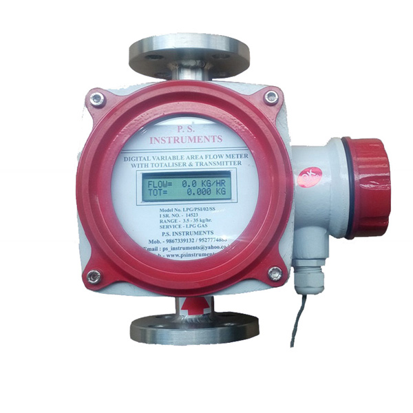 Digital Gas Flow Meter with totalizer